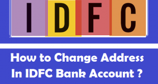 How to Change Address in IDFC Bank Account