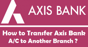How to Transfer Axis Bank Account to Another Branch