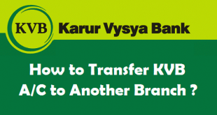 How to Transfer Karur Vysya Bank Account to Another Branch