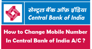 How to Change Mobile Number in Central Bank of India Account