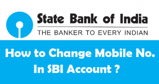 How to Change Mobile Number in SBI Account