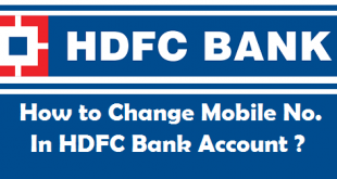 How to Change Mobile Number in HDFC Bank Account