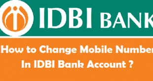 How to Change Mobile Number in IDBI Bank Account