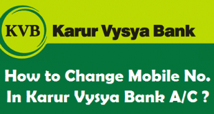 How to Change Mobile Number in Karur Vysya Bank Account