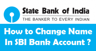 How to Change Name in SBI Account
