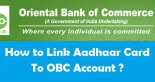 How to Link Aadhaar Card with Oriental Bank of Commerce Account