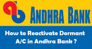 How to Reactivate Dormant Account in Andhra Bank