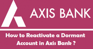 How to Reactivate Dormant Account in Axis Bank