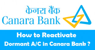 How to Reactivate Dormant Account in Canara Bank