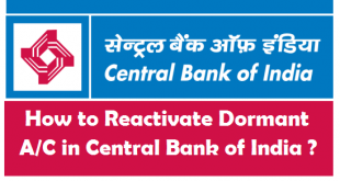 How to Reactivate Dormant Account in Central Bank of India