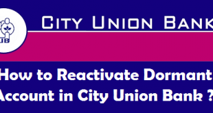 How to Reactivate Dormant Account in City Union Bank