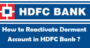 How to Reactivate Dormant Account in HDFC Bank