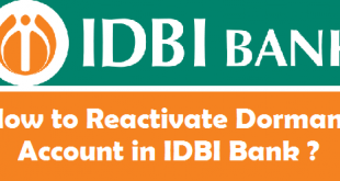 How to Reactivate Dormant Account in IDBI Bank