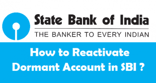 How to Reactivate Dormant Account in SBI