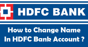 How to Change Name in HDFC Bank Account