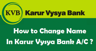 How to Change Name in Karur Vysya Bank Account