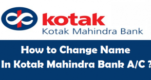 How to Change Name in Kotak Mahindra Bank Account