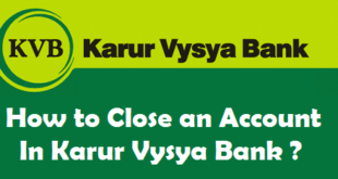 How to Close a Bank Account in Karur Vysya Bank