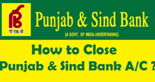 How to Close a Bank Account in Punjab & Sind Bank