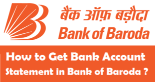 How to Get Bank Account Statement in Bank of Baroda