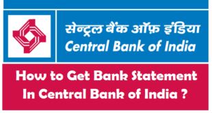 How to Get Bank Account Statement in Central Bank of India