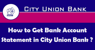 How to Get Bank Account Statement in City Union Bank