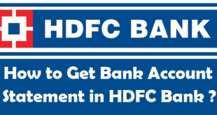 How to Get Bank Account Statement in HDFC Bank