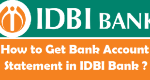 How to Get Bank Account Statement in IDBI Bank