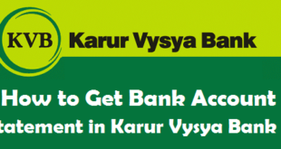 How to Get Bank Account Statement in Karur Vysya Bank