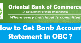 How to Get Bank Account Statement in Oriental Bank of Commerce