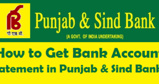 How to Get Bank Account Statement in Punjab & Sind Bank