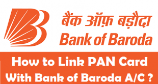 How to Link PAN Card with Bank of Baroda Account