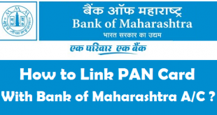 How to Link PAN Card with Bank of Maharashtra Account