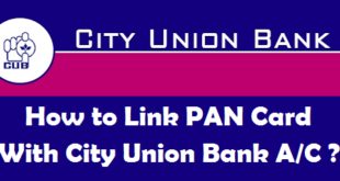 How to Link PAN Card with City Union Bank Account
