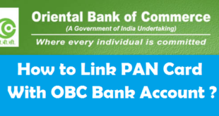 How to Link PAN Card with Oriental Bank of Commerce Account