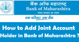 How to Add Joint Account Holder in Bank of Maharashtra