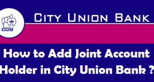 How to Add Joint Account Holder in City Union Bank