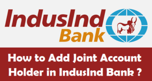 How to Add Joint Account Holder in IndusInd Bank