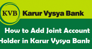 How to Add Joint Account Holder in Karur Vysya Bank