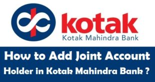 How to Add Joint Account Holder in Kotak Mahindra Bank