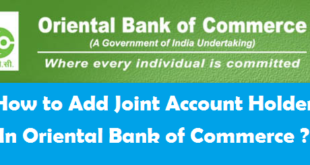 How to Add Joint Account Holder in Oriental Bank of Commerce