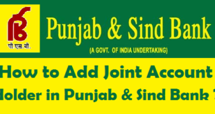 How to Add Joint Account Holder in Punjab & Sind Bank