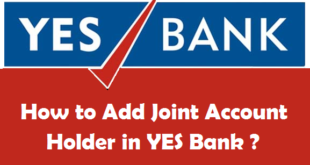 How to Add Joint Account Holder in YES Bank