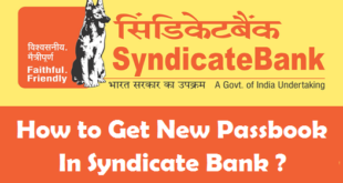 How to Get New Passbook in Syndicate Bank