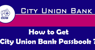 How to Get New Passbook in City Union Bank