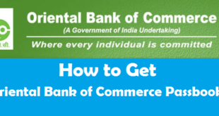 How to Get New Passbook in Oriental Bank of Commerce