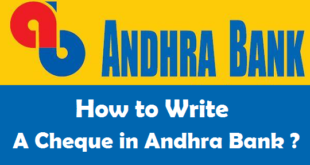 How to Write a Cheque in Andhra Bank
