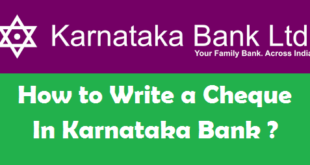 How to Write a Cheque in Karnataka Bank