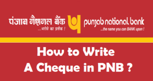 How to Write a Cheque in PNB