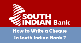 How to Write a Cheque in South Indian Bank